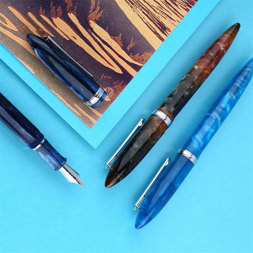 pen Penbbs 480 Acrylic Resin Fountain Pen Fine Nib F 0.5mm Writing Pen Students School office ink Pens Stationery Supplies HOB1633453 1 1