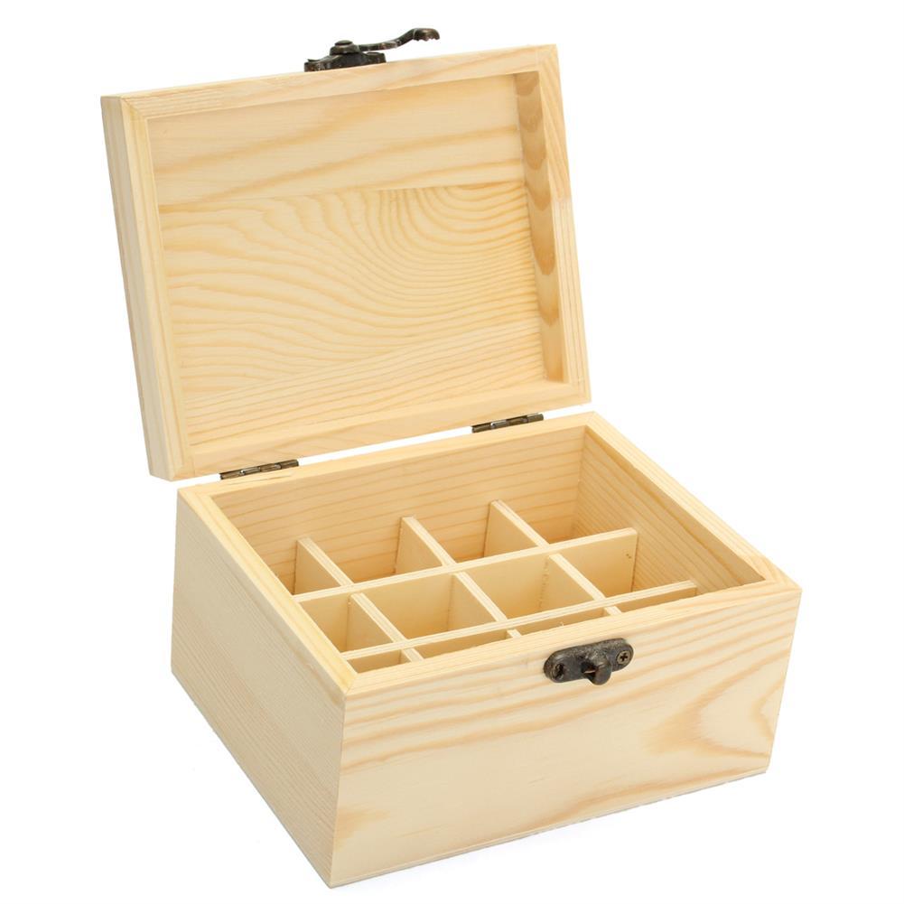 desktop-off-surface-shelves 12 Grids Wood Essential Oil Box Storage Organizer Aromatherapy Carry Case Desktop Storage Business Home Supplies HOB1633459 1