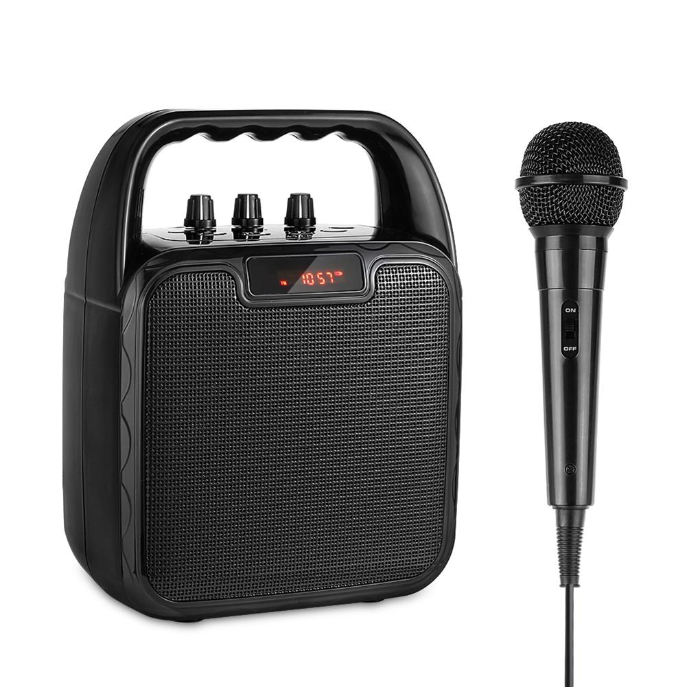 computer-speakers Archer Portable Bluetooth Speaker Karaoke Microphone Computer Speakers with Microphone Mobile Sound Machine Voice Amplifier for Bluetooth/USB/TF/AUX Slot 4-8 Hours Operating Time HOB1633721 1