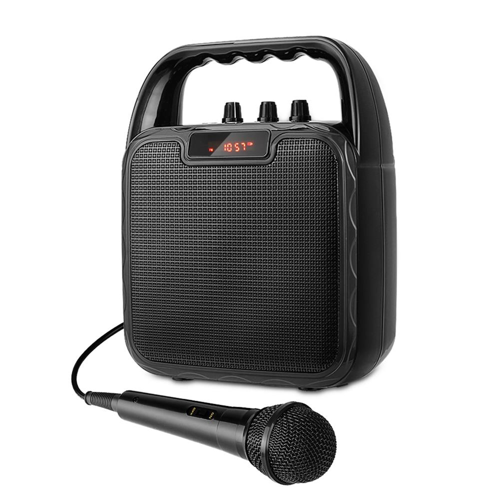 computer-speakers Archer Portable Bluetooth Speaker Karaoke Microphone Computer Speakers with Microphone Mobile Sound Machine Voice Amplifier for Bluetooth/USB/TF/AUX Slot 4-8 Hours Operating Time HOB1633721 1 1