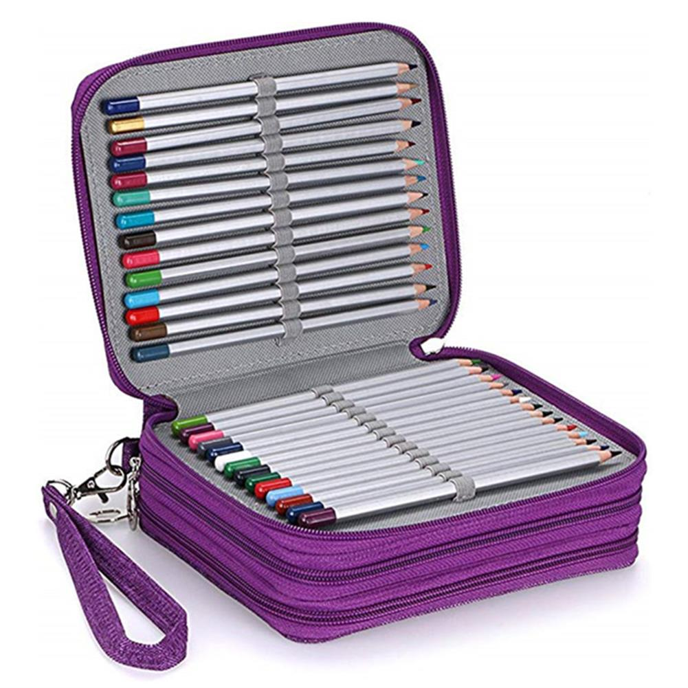 pencil-case 78 Slots Colored Pencil Case Large Capacity Soft and PU Leather Pencil Holder Organizer with Carrying Handle Not included Pens HOB1633745 1