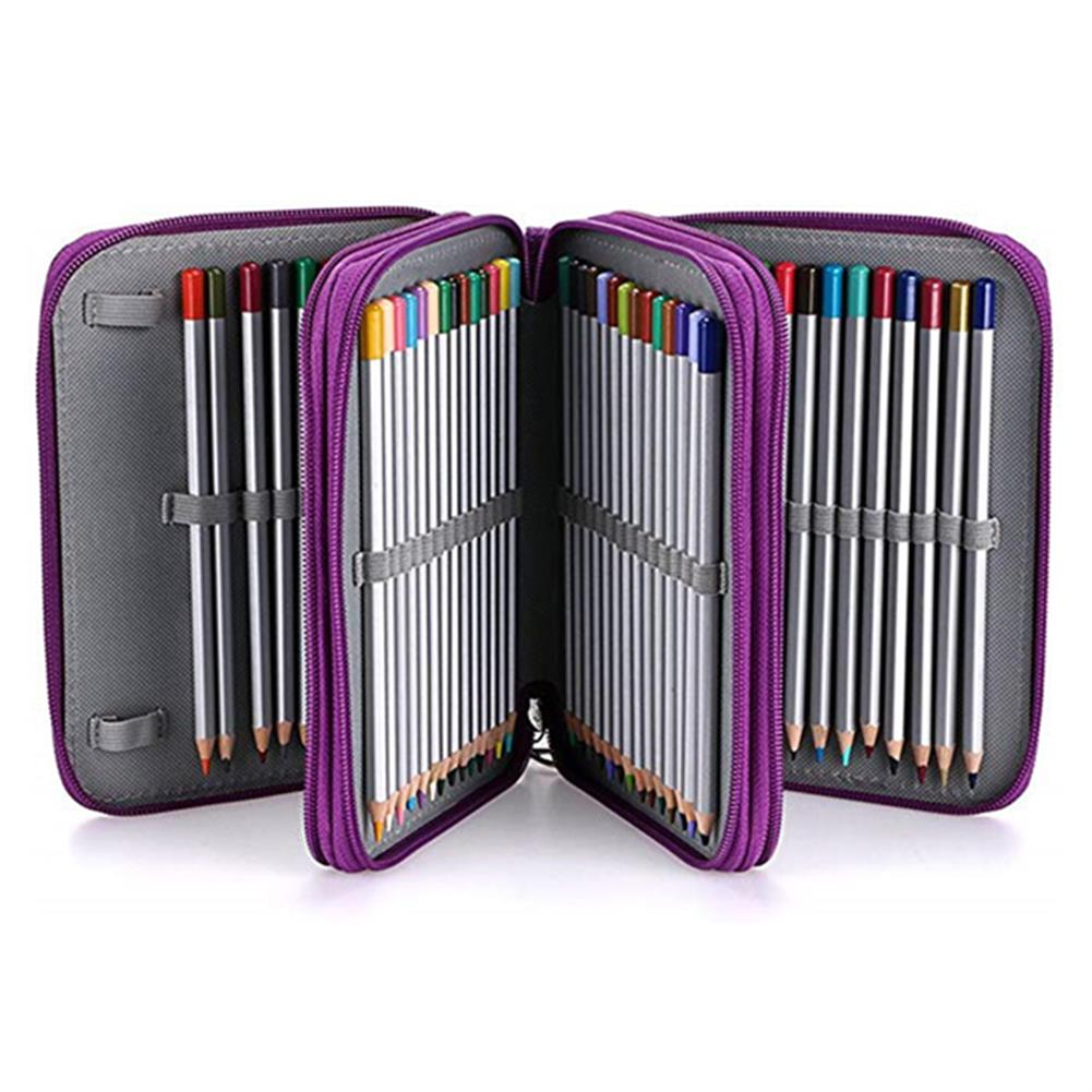 pencil-case 78 Slots Colored Pencil Case Large Capacity Soft and PU Leather Pencil Holder Organizer with Carrying Handle Not included Pens HOB1633745 1 1