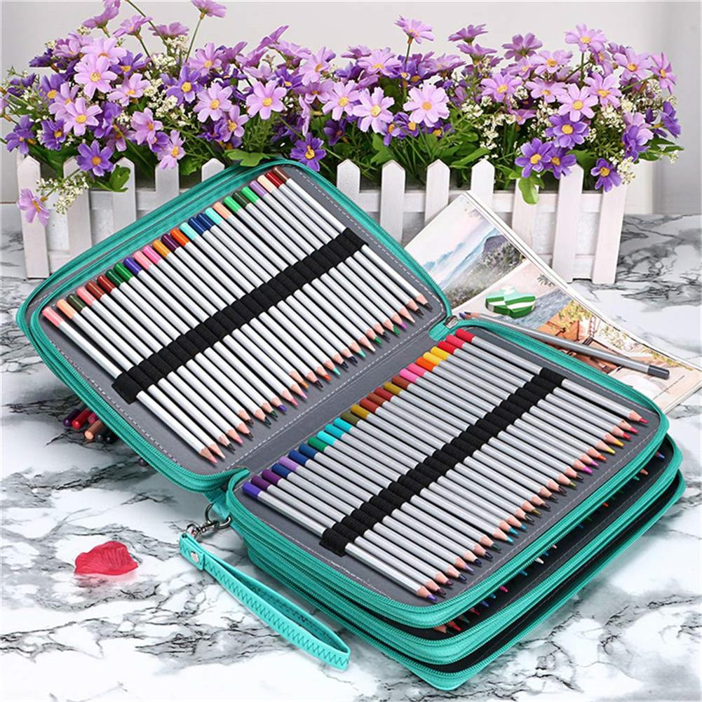 pencil-case 184 Slots Colored Pencil Case Large Capacity Soft and PU Leather Pencil Holder Organizer with Carrying Handle Not included Pens HOB1633760 1 1
