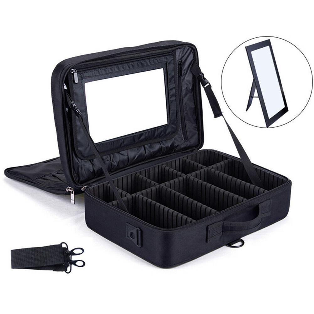 desktop-off-surface-shelves 2/3 Tiers Makeup Bag Travel Cosmetic Case Desktop Beauty Brush Organizer Box Large Capacity Cosmetic Storage Bag HOB1634733 1 1
