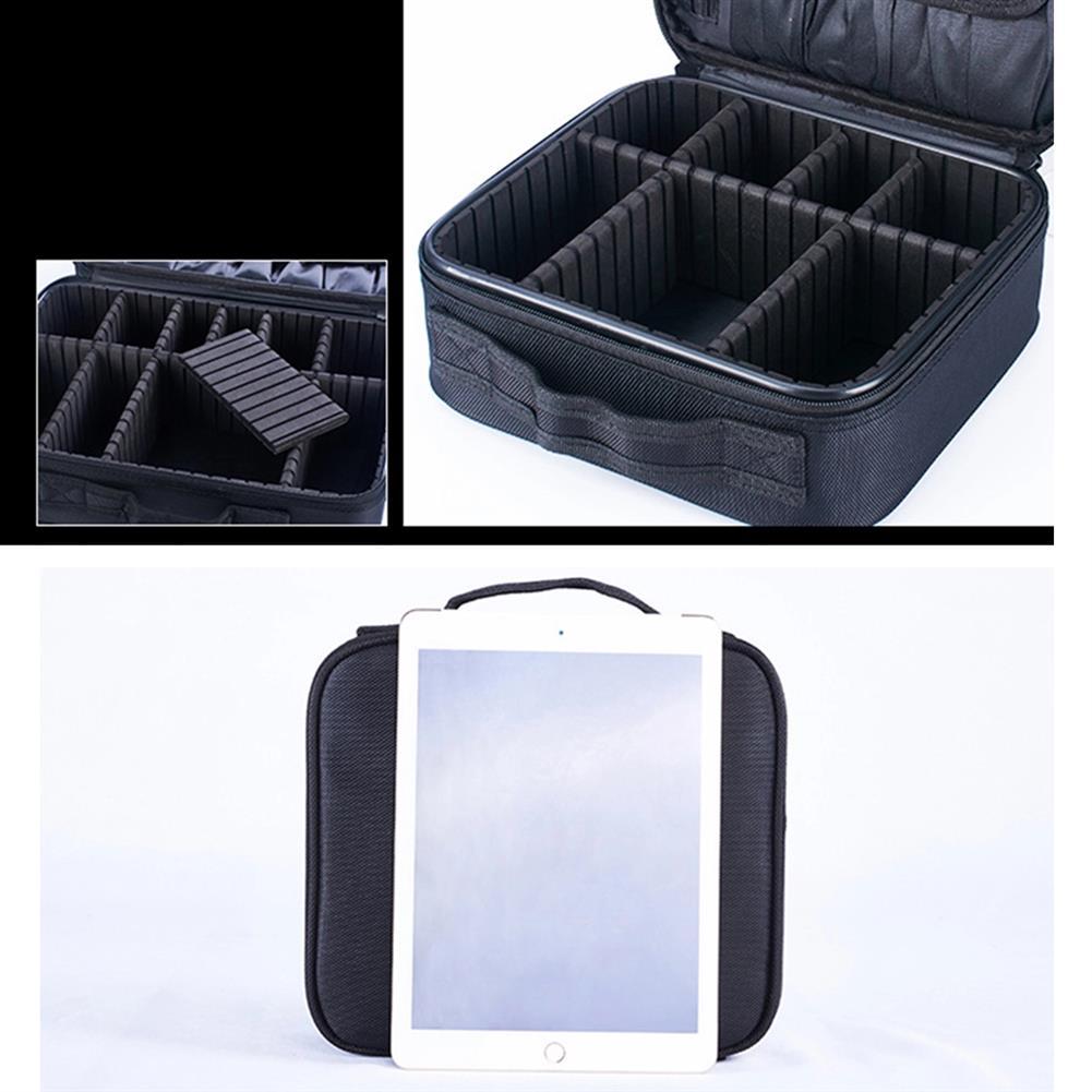 desktop-off-surface-shelves 2/3 Tiers Makeup Bag Travel Cosmetic Case Desktop Beauty Brush Organizer Box Large Capacity Cosmetic Storage Bag HOB1634733 2 1