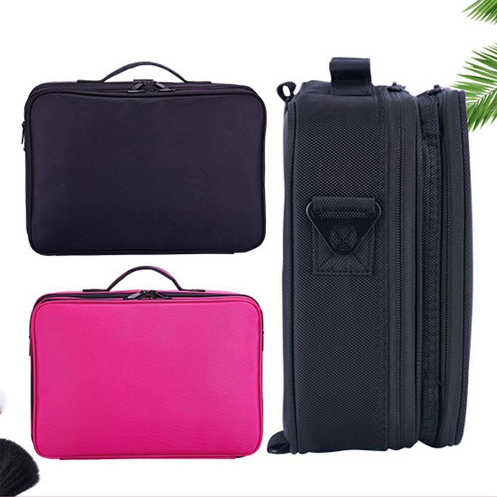 desktop-off-surface-shelves 2/3 Tiers Makeup Bag Travel Cosmetic Case Desktop Beauty Brush Organizer Box Large Capacity Cosmetic Storage Bag HOB1634733 3 1