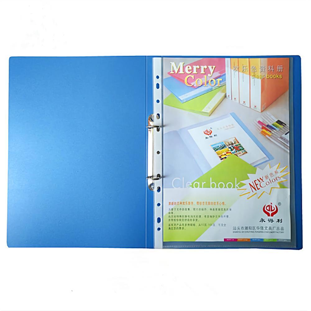 desktop-off-surface-shelves 1 Piece A4 Blue File Folder 2 Holes O-shape Ring Binder Document Folder Desktop File Organizer office School Supplies HOB1635349 1