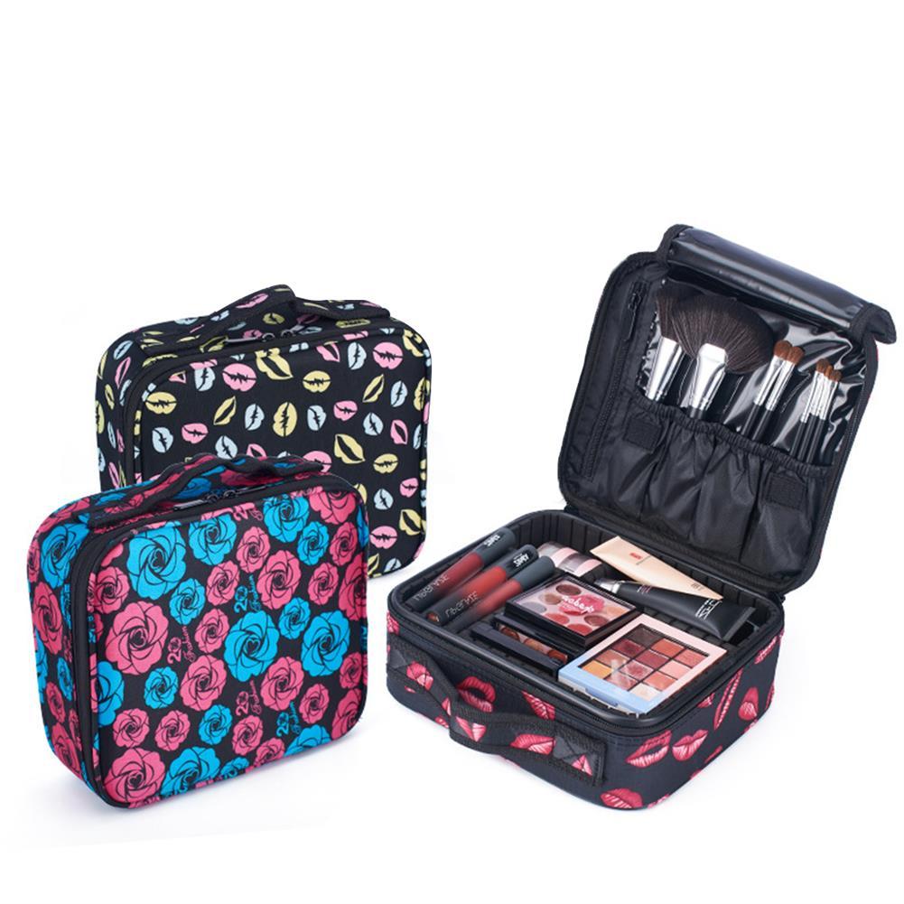 desktop-off-surface-shelves Upgraded Version Waterproof Oxford Cosmetic Case Beauty Brush Organizer Makeup Bag Female Bag HOB1635484 1