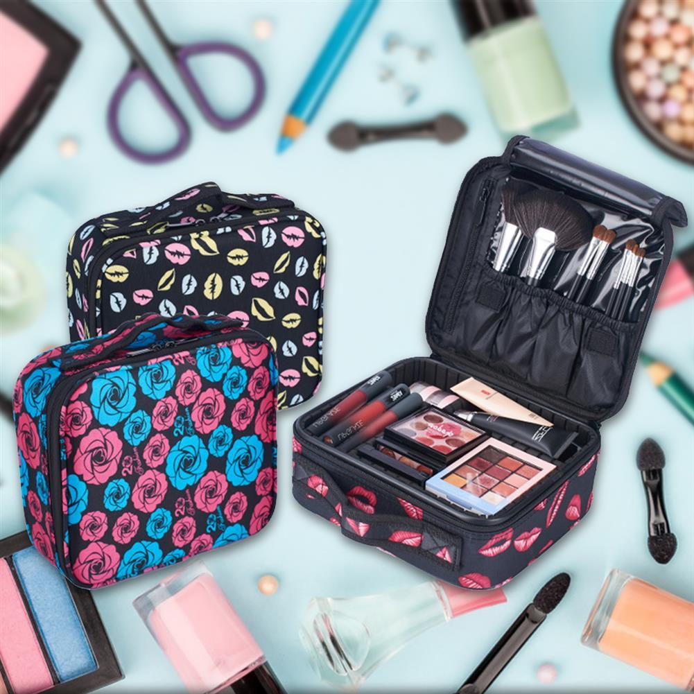 desktop-off-surface-shelves Upgraded Version Waterproof Oxford Cosmetic Case Beauty Brush Organizer Makeup Bag Female Bag HOB1635484 1 1