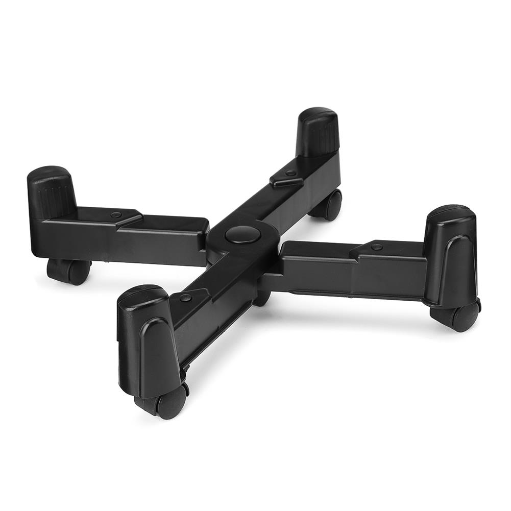 pc-gadgets X-shape PC Computer CPU Stand Tower Holder Computer Case Stand with Swivel Mobile Castors/Wheels Adjustable HOB1636460 1