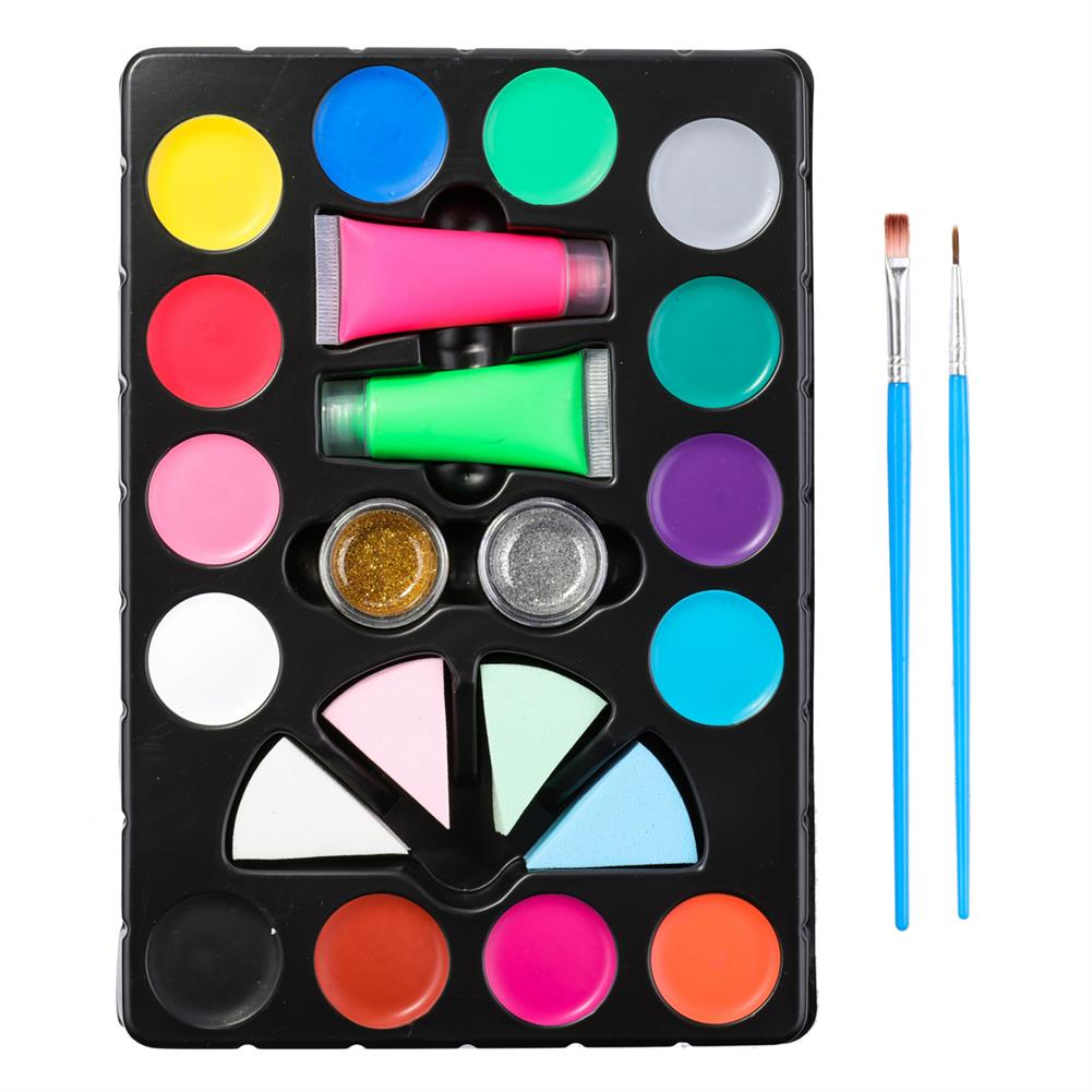 watercolor-paints Face Painting Kit Body Makeup Non Toxic Water Paint Pigment Oil with Brush for Christmas Halloween Fancy Carnival Vibrant Party HOB1637199 1