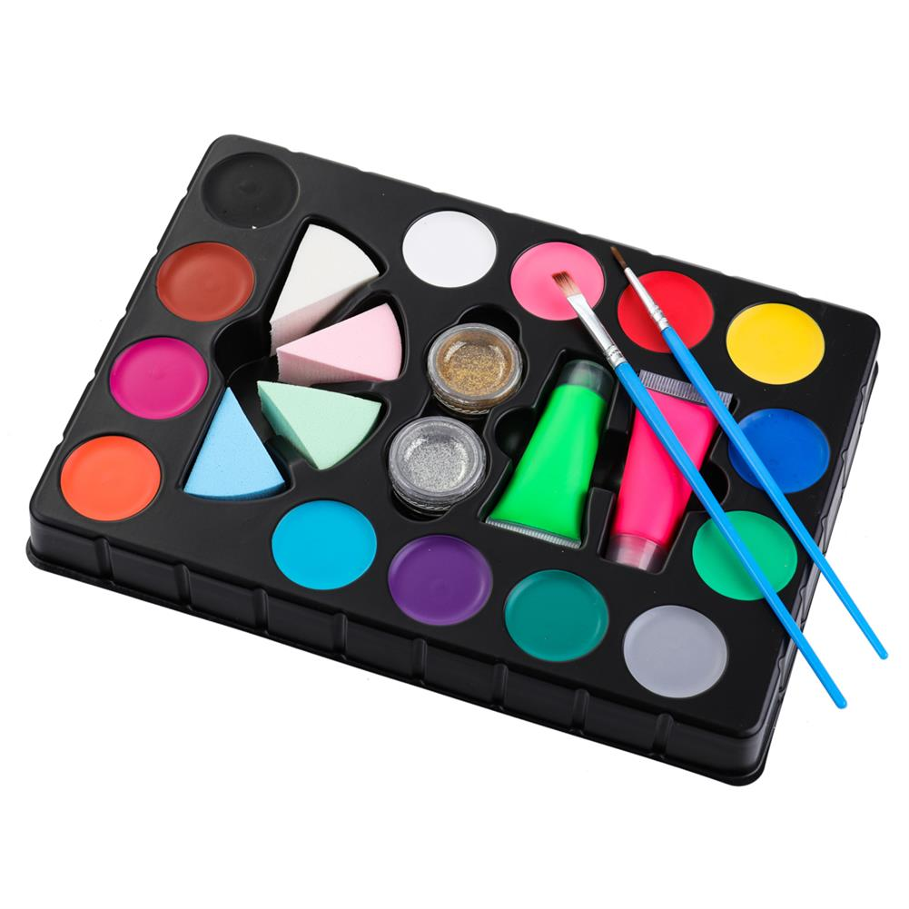 watercolor-paints Face Painting Kit Body Makeup Non Toxic Water Paint Pigment Oil with Brush for Christmas Halloween Fancy Carnival Vibrant Party HOB1637199 1 1
