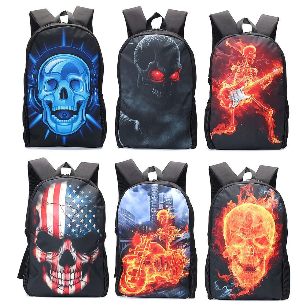 pencil-case Skull Zombie Backpack School Shoulder Bag Book Bag Rucksack for Boys Girls HOB1638150 1