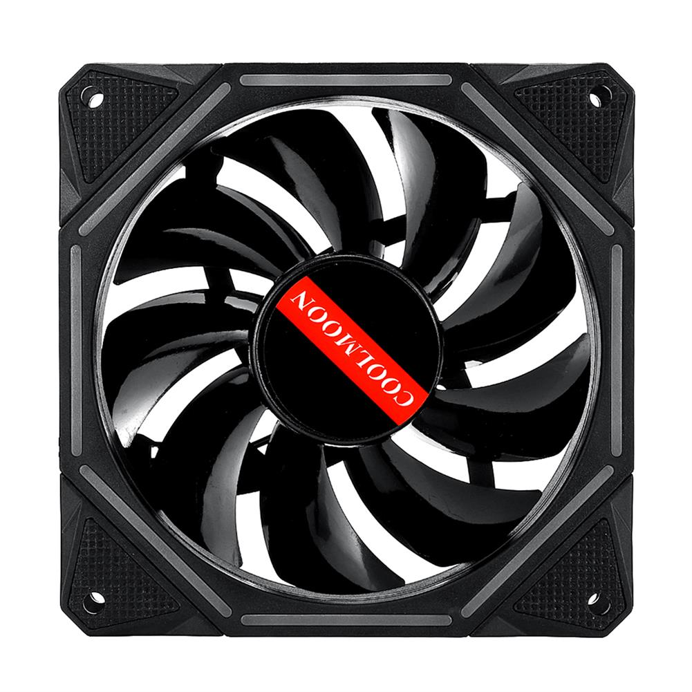 fluid-diy-cooling 1400RPM 120mm 6pin Dual Aura Adjustble LED RGB Cooling Fan PC Case Cooling Fan for PC Case Computer Remote Control HOB1638195 1 1