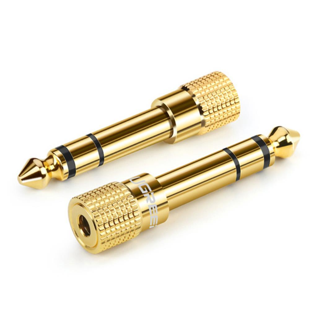 audio-cables-connectors Ugreen Jack 3.5 Speaker Connector Audio Adapter 6.35mm Male to 3.5mm Female Audio Connector 3.5 Jack Aux Cable for Speaker Guitar Jack 6.35 HOB1639183 1 1