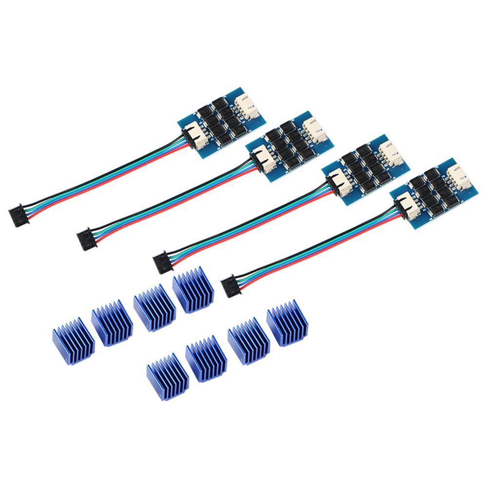 3d-printer-accessories 4PCS TL-smoother V2 Addon Module Stepper Motor Driver Signal Filter Stabilizer Module for Reprap Pursa I3 3D Printer with Heat Sink HOB1639202 1