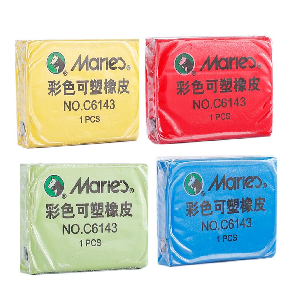 ordinary-rubber Maries C6143 Plastic Rubber Eraser Soft Tearable No Scraps Rubber Professional Sketch Drawing Eraser School office Supplies HOB1639433 1