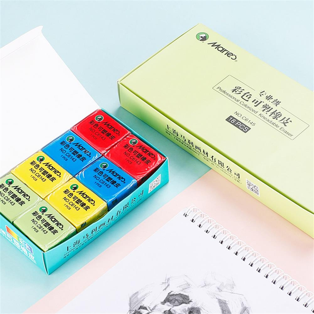 ordinary-rubber Maries C6143 Plastic Rubber Eraser Soft Tearable No Scraps Rubber Professional Sketch Drawing Eraser School office Supplies HOB1639433 1 1
