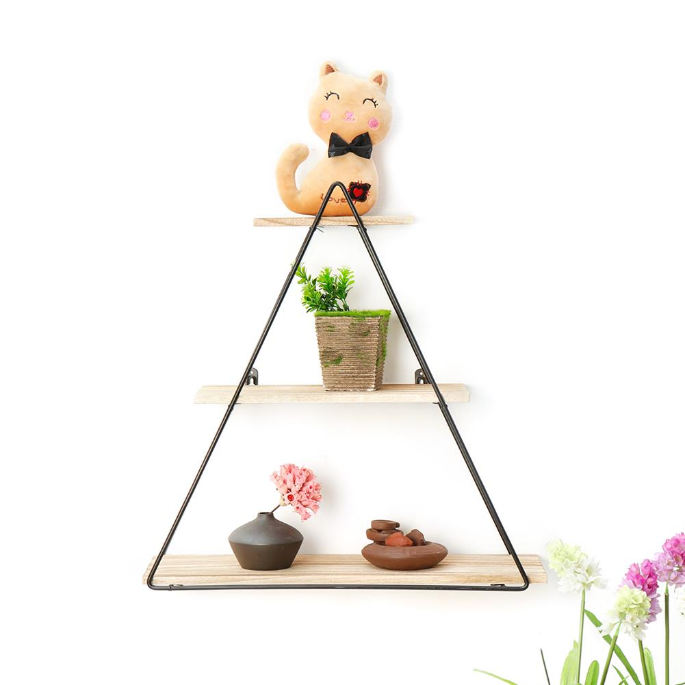 book-stands Retro Wooden Iron Craft Wall Mounted Storage Shelf Rack Bookshelf Decorations stand industrial Style for Home office Garden Bedroom HOB1640195 1