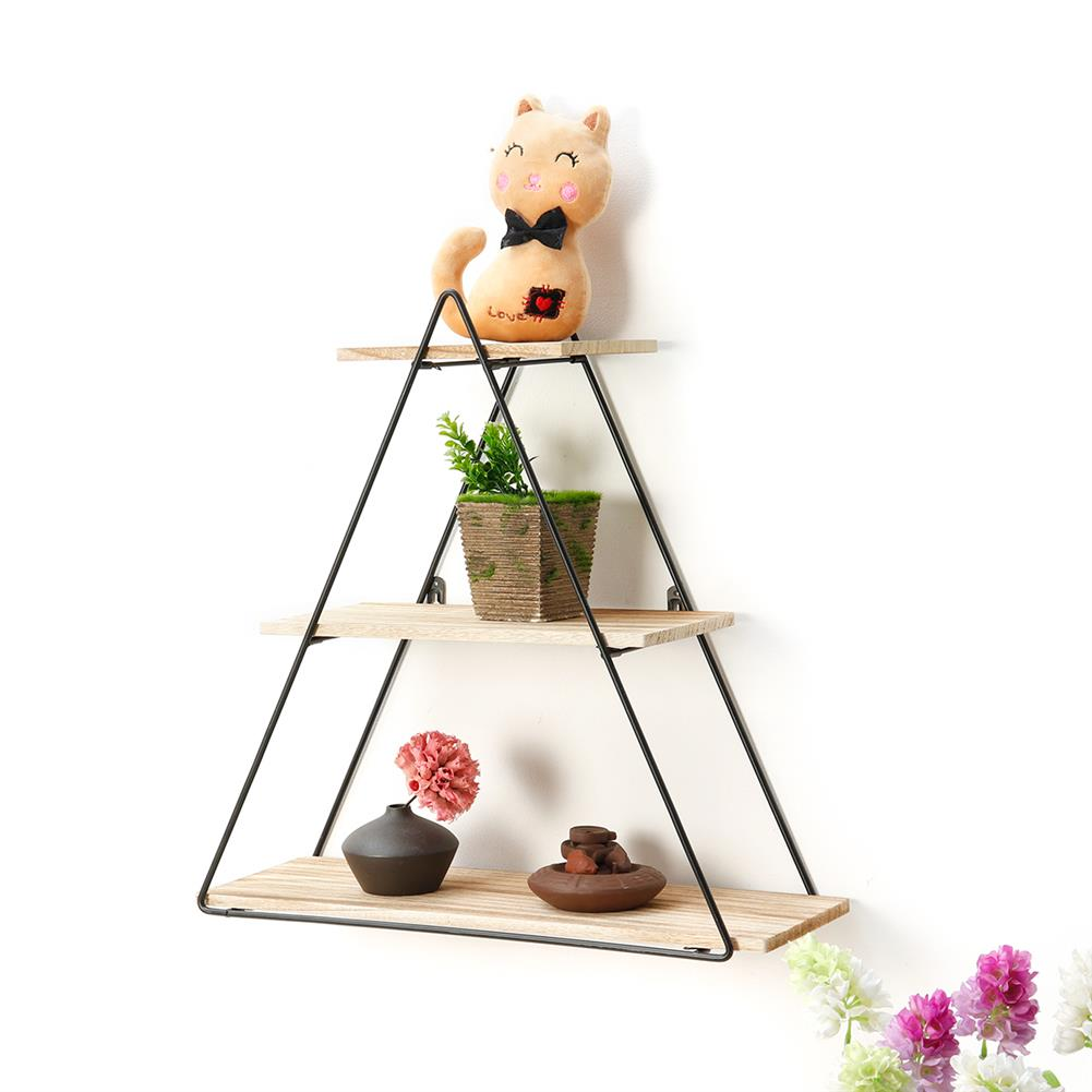 book-stands Retro Wooden Iron Craft Wall Mounted Storage Shelf Rack Bookshelf Decorations stand industrial Style for Home office Garden Bedroom HOB1640195 1 1