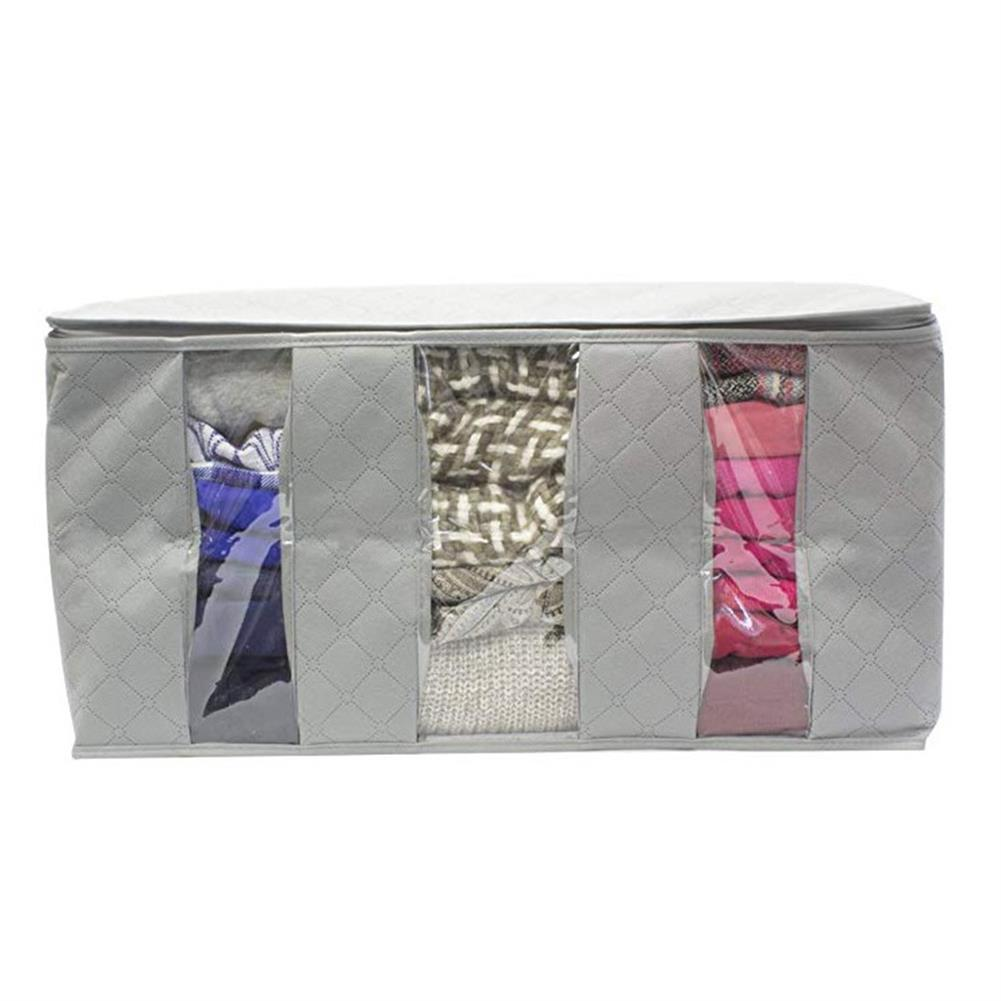 desktop-off-surface-shelves 1 Pcs Desktop Organizer Non-woven Space Saver Clothes Quilt Blanket Storage Bag Box Organizer Portable HOB1641094 1 1
