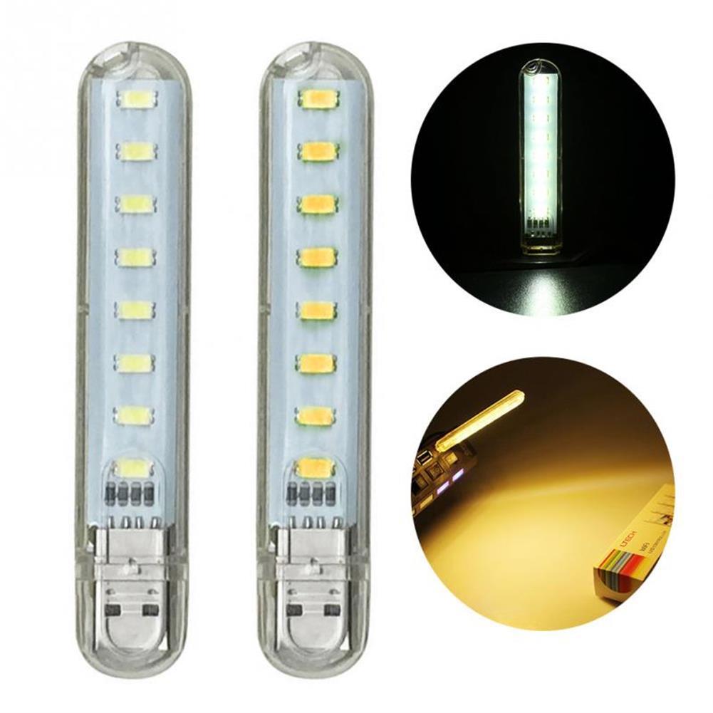 usb-gadgets Mini Light USB LED Lamp DC 5V 8 LED Camping Computer Portable Night USB Gadget Lighting for PC Laptop HOB1641621 1