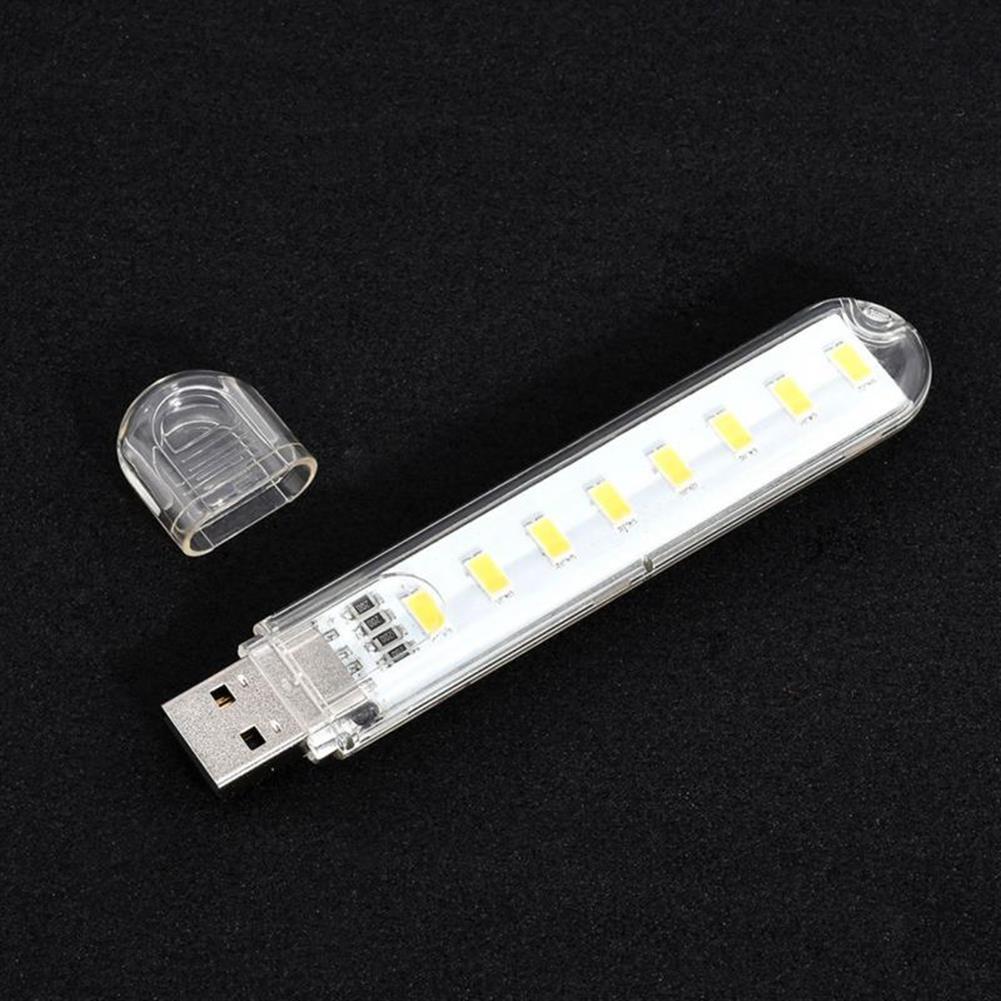 usb-gadgets Mini Light USB LED Lamp DC 5V 8 LED Camping Computer Portable Night USB Gadget Lighting for PC Laptop HOB1641621 2 1