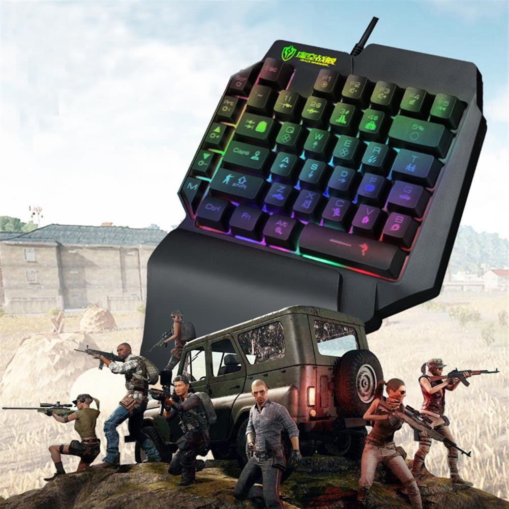 keyboards Shipadoo F6 Wired Single Handed RGB Backlight Gaming Keyboard 39 Keys one Hand Ergonomic Game Keypad for PC Laptop Pro PUBG Gamer HOB1642151 1 1