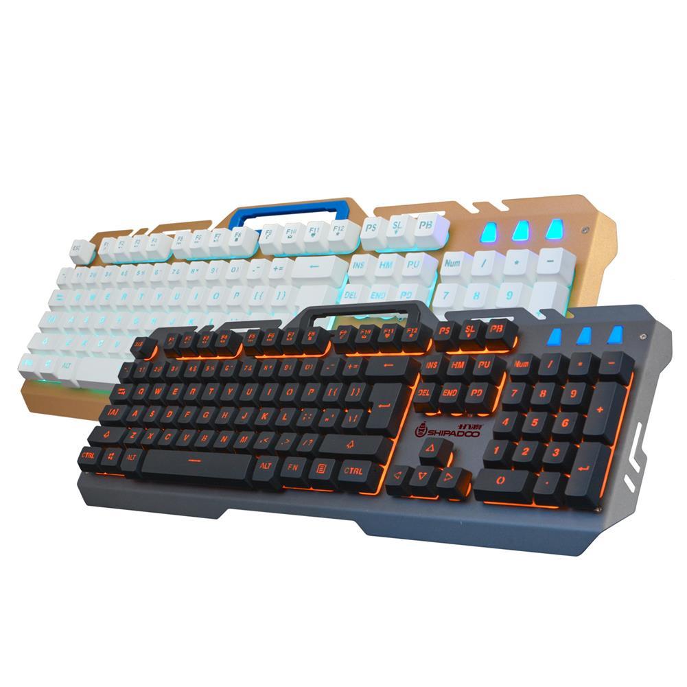keyboards Shipadoo 104 Keys RGB Backlight Keyboard Void Warship Suspension Keycaps Wired Mechanical Keyboard Desktop USB Home office Ergonomic Keyboard for Laptop Notebook Computer PC HOB1642196 1
