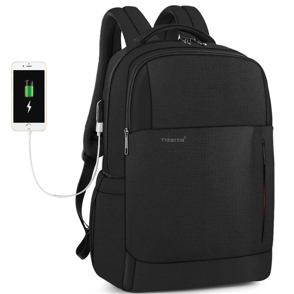 laptop-bags, cases-sleeves Tigernu 15.6 inch Laptop Backpack Anti-theft Zipper with USB Charging Unisex Waterproof Laptop Bag HOB1643000 1