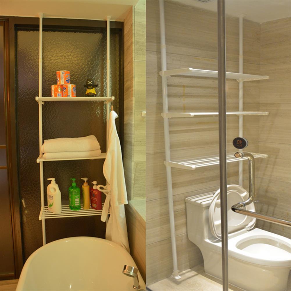 book-stands 3 Tiers Iron Bathroom Space Saving Storage Shelf Towel Clothes Storage Rack Bookshelf Organizer HOB1643104 1