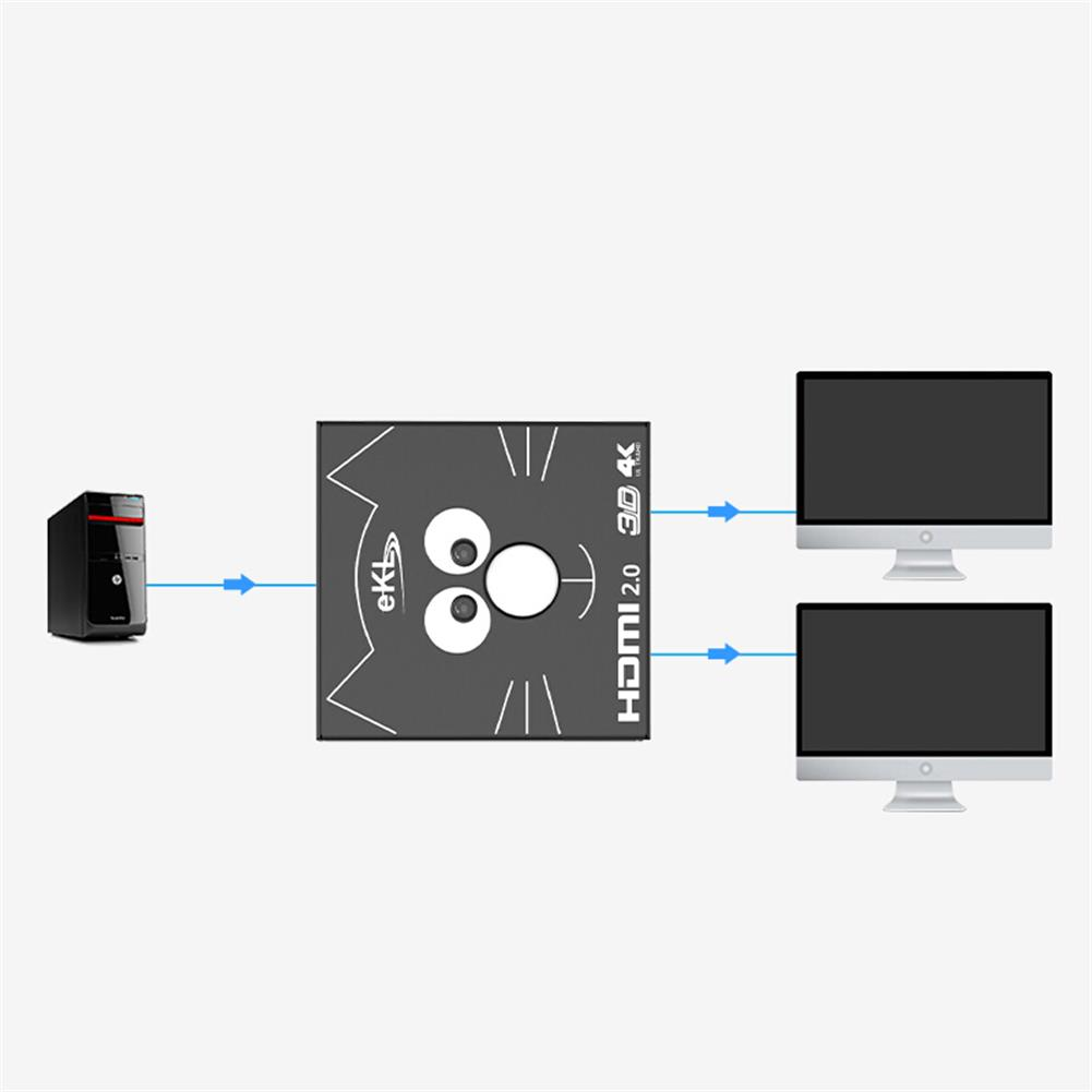 video-cables-connectors eKL 2H HD Switcher 2 in 1 Out / 1 in 2 Out HD 4K Network Box Distributor Computer TV Video Splitter Monitor Screen Adapter HOB1644097 2 1