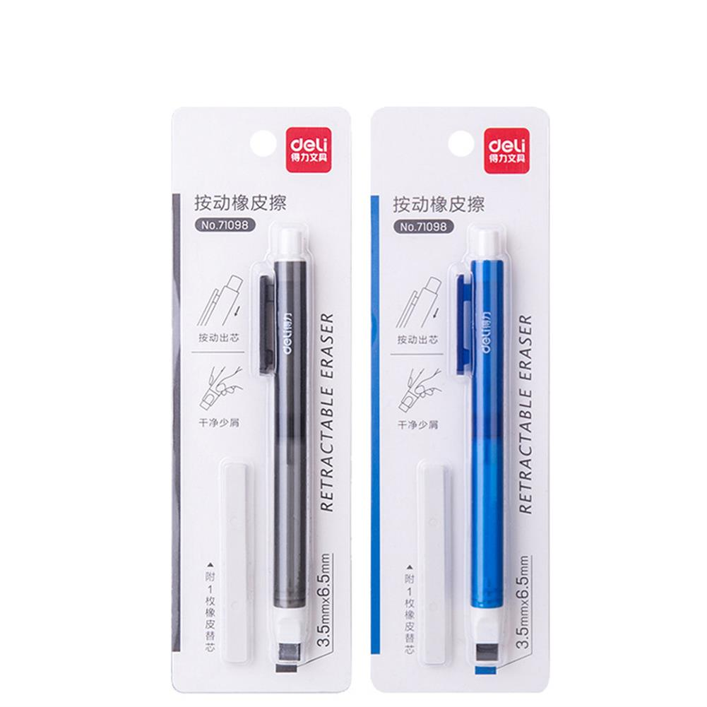 ordinary-rubber Deli 71098 Refillable Pen Shape Eraser Press Type Sketch Drawing Rubber office School Stationery Art Painting Supplies HOB1645157 1