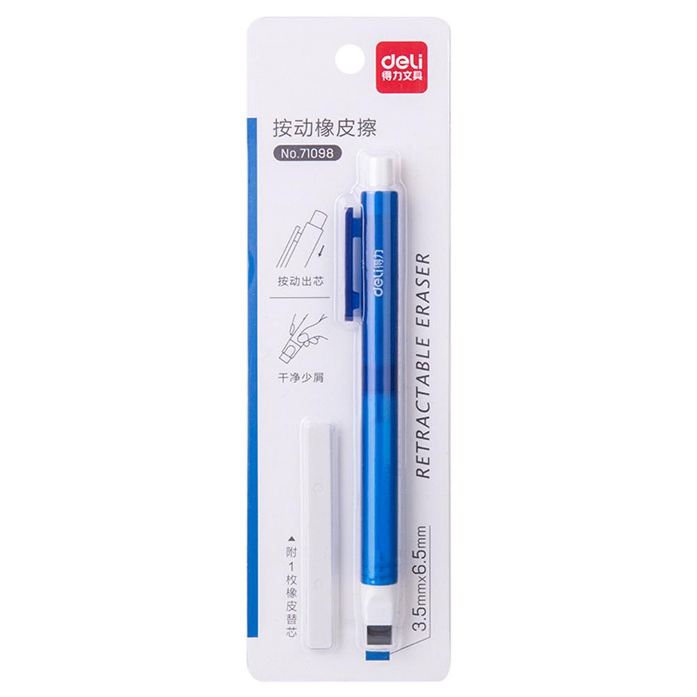 ordinary-rubber Deli 71098 Refillable Pen Shape Eraser Press Type Sketch Drawing Rubber office School Stationery Art Painting Supplies HOB1645157 1 1