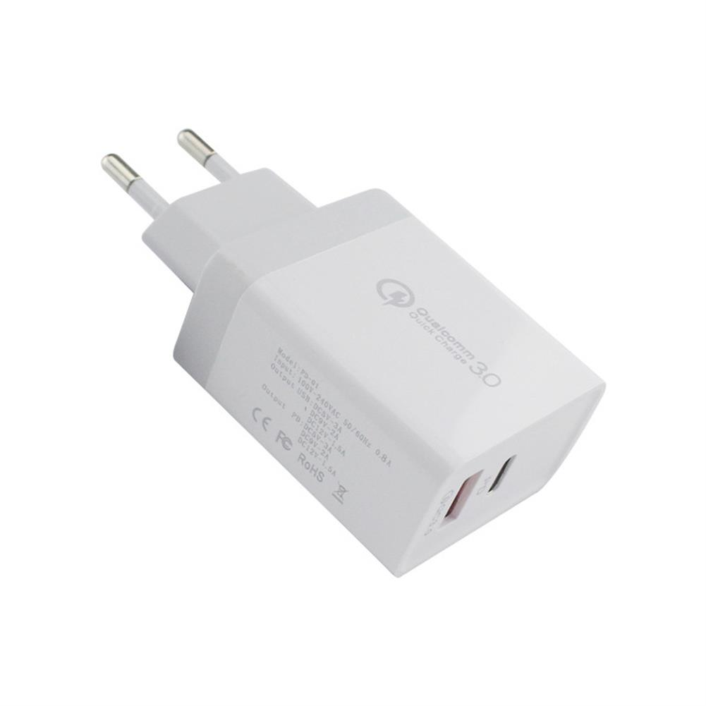 tablet-chargers 36W Dual USB Type C PD+QC3.0 Quick Charger Power Adapter for Smartphone Tablet HOB1645338 1 1