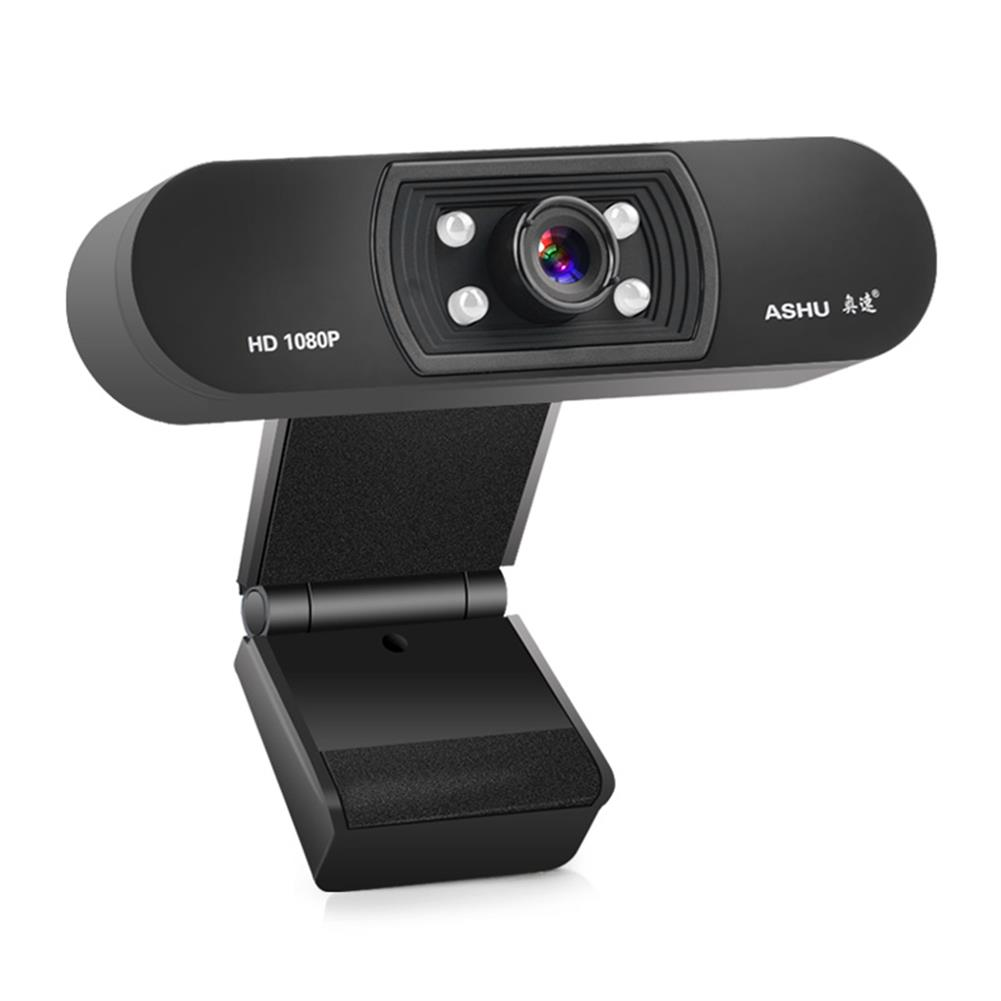 webcams ASHU H800 1080P HD Widescreen Video Webcam Hdweb Camera with Built-in Hd Microphone for Laptop PC HOB1649154 1