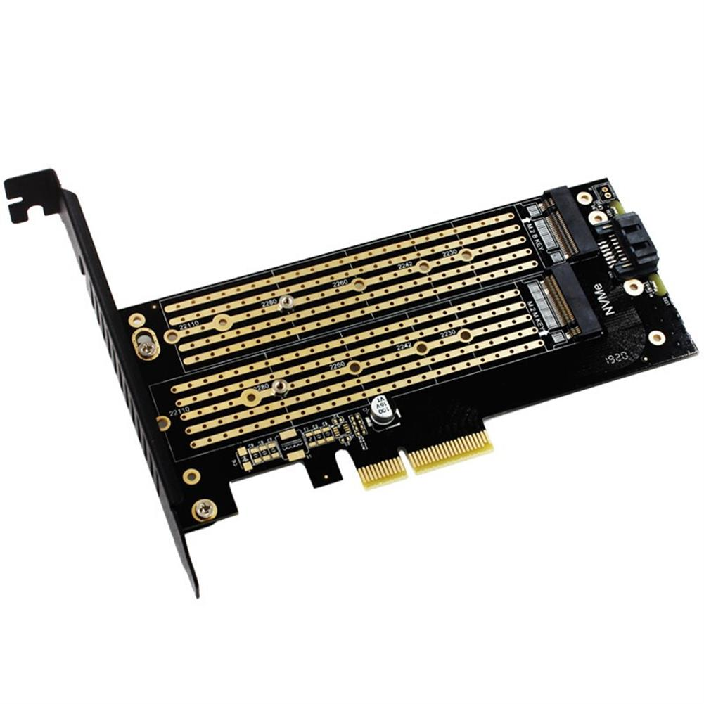 pci-cards JEYI SK6 M.2 NVME SSD NGFF to PCI-E X4 Adapter M-Key B-Key Dual interface Card Support PCI-Express Expansion Card 3.0 X4 2230-22110 All Size M.2 HOB1650548 1 1