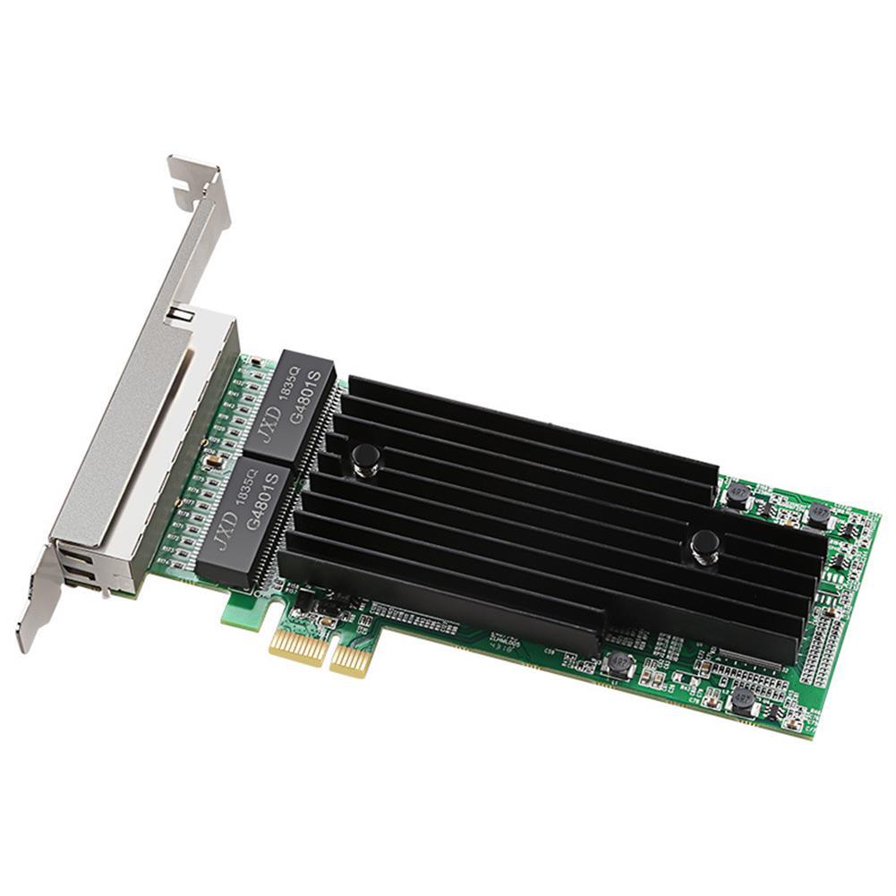 pci-cards DIEWU TXA063 intel I82575 T4 4 Ports Gigabit Ethernet PCI Express X14 Card 1X Server Adapter Network Card HOB1651655 1