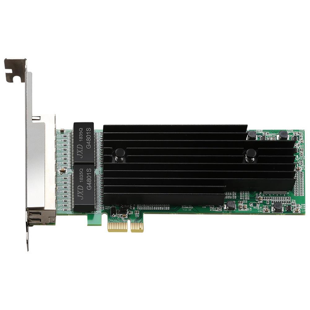 pci-cards DIEWU TXA063 intel I82575 T4 4 Ports Gigabit Ethernet PCI Express X14 Card 1X Server Adapter Network Card HOB1651655 1 1