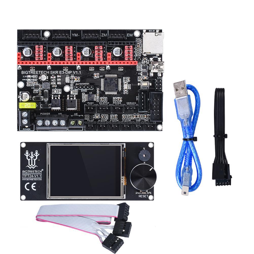 3d-printer-module-board BIGTREETECH SKR E3 DIP V1.1 32Bit Control Board + TFT24 Touch Screen+ 4Pcs A4988 Driver Kit for 3D Printer HOB1654196 1 1
