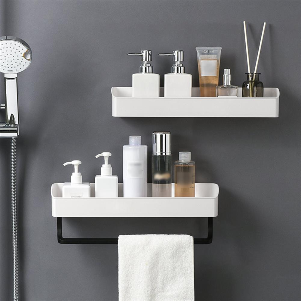 pen-holders, filing Bathroom Wall Mounted Kitchen Storage Rack Towel Shelf Organizer Shower Shampoo Holder HOB1663521 3 1