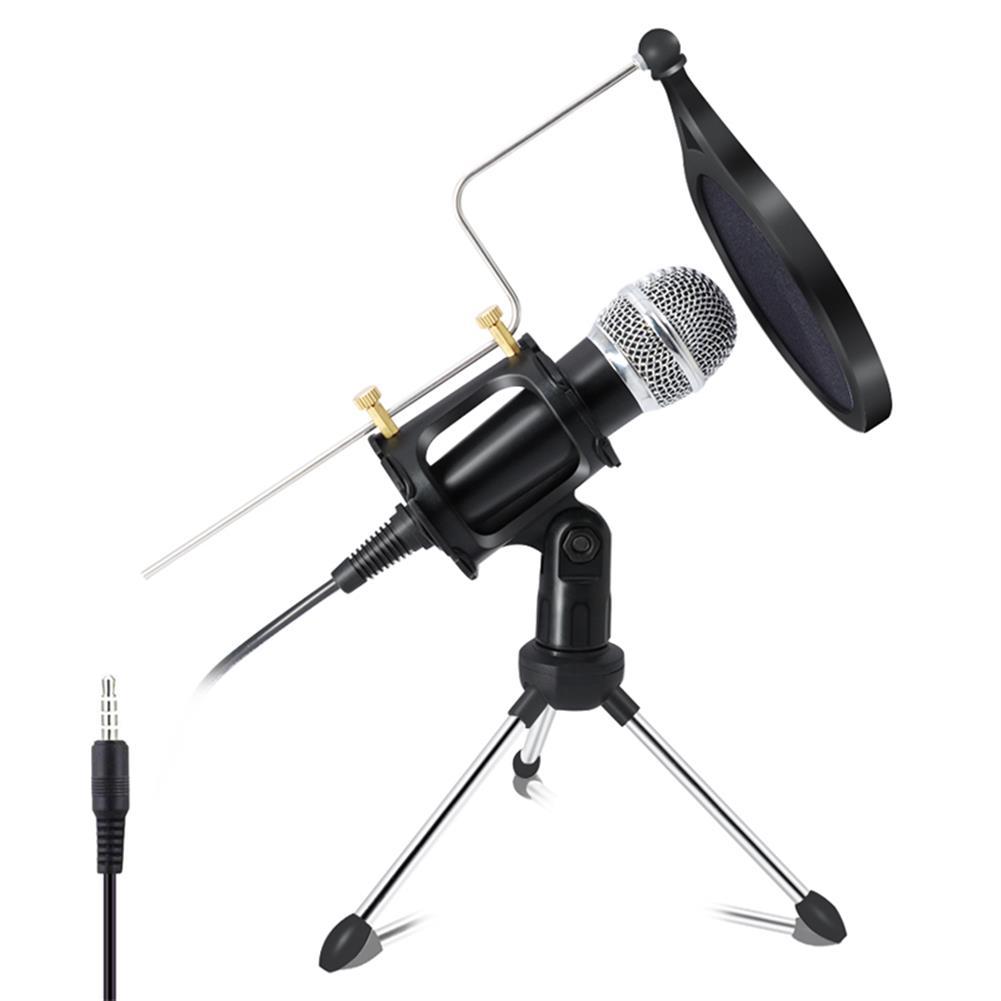 microphones-microphones-headphones X-01 3.5 mm Jack Mini Recording Condenser Microphone for Computer PC Karaoke Phone HOB1665024 1