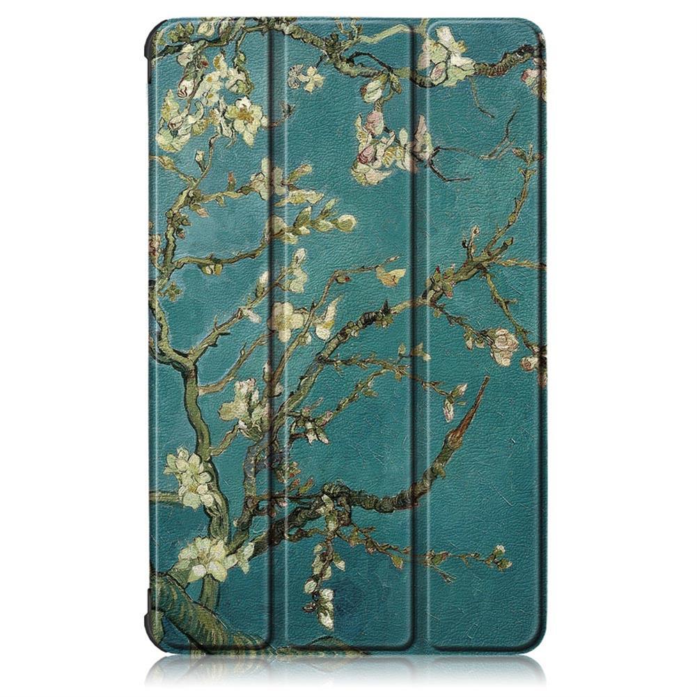 tablet-cases Tri-Fold Pringting Tablet Case Cover for Lenovo Tab M8 Tablet - Apricot Blossom Version HOB1665956 1 1