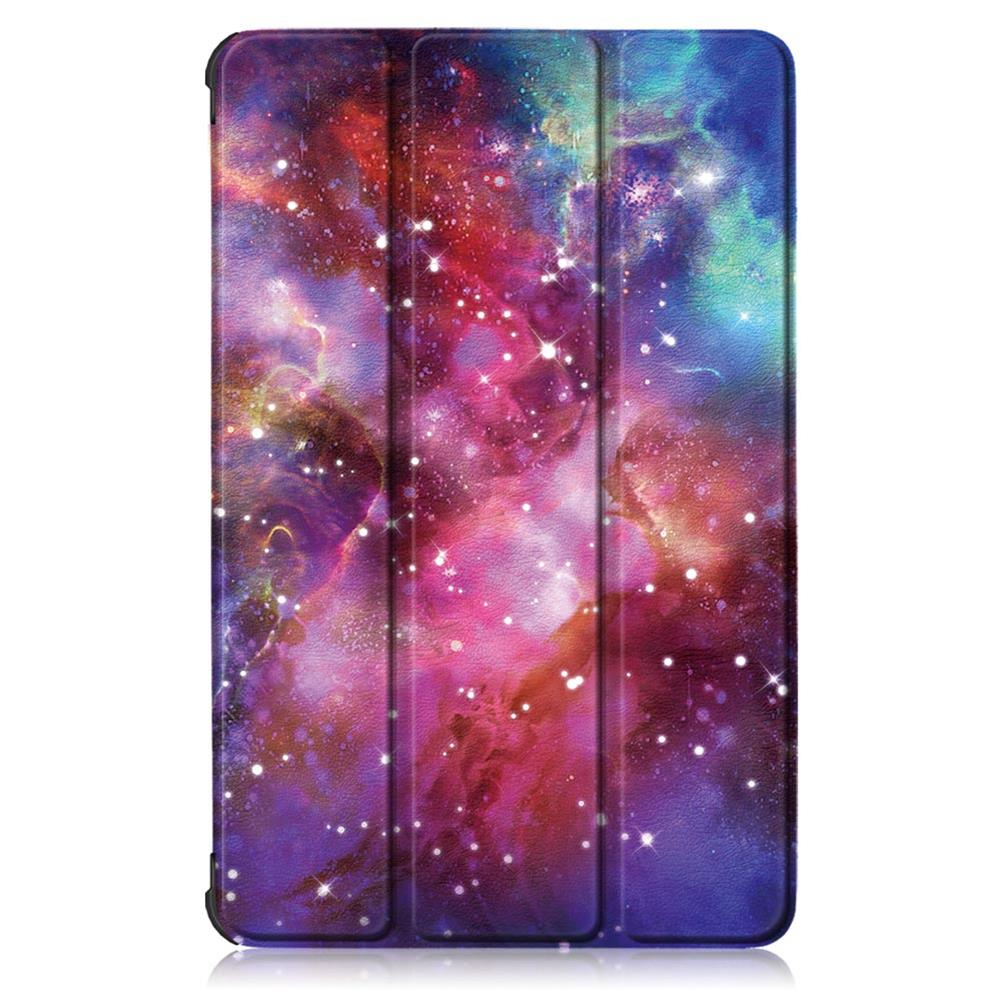 tablet-cases Tri-Fold Pringting Tablet Case Cover for Lenovo Tab M10 Plus Tablet - Galactics Version HOB1666716 1 1