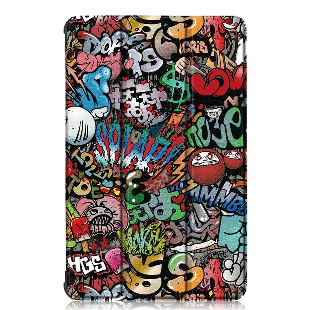 tablet-cases Tri-Fold Pringting Tablet Case Cover for Lenovo Tab M10 Plus Tablet - Doodle Version HOB1667014 1 1