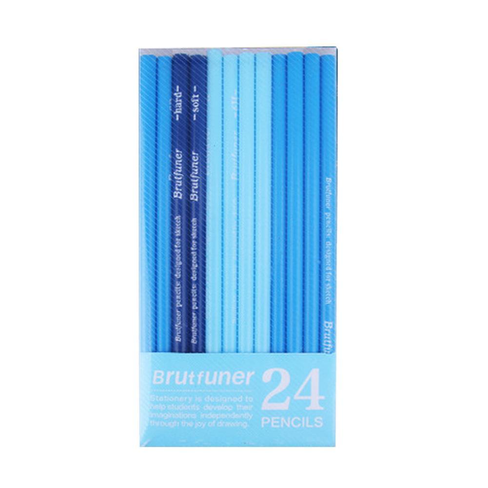 pencil 24 Pcs Sketch Pencil Art Drawing Pencil HB/2B/3B/14B Multiple Models Excellent Supply for School Student Adult HOB1668113 1