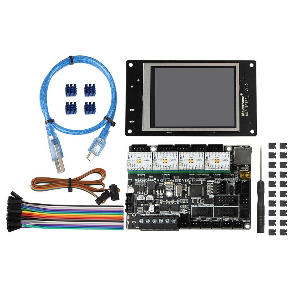 3d-printer-module-board MKS Robin v1.0 Mainboard + TMC2209 Drivers + MKS TFT28 Touch Screen Set Kit for Creality 3D 3D Printer HOB1669756 1