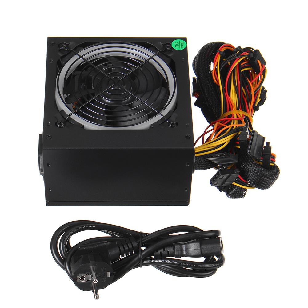 pc-power-supplies 800W ATX 12V PC Computer Desktop Power Supply PCI SATA LED Fan 24pin Gaming HOB1673385 1