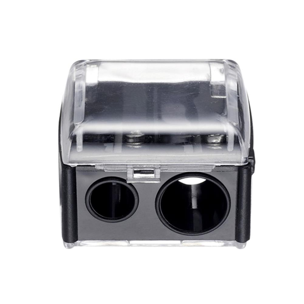 pencil-sharpener Cute Double Hole Pencil Sharpener Makeup Pen Pencil Sharpener Give Girl Gifts School Supplies Essential Stationery HOB1687409 1 1
