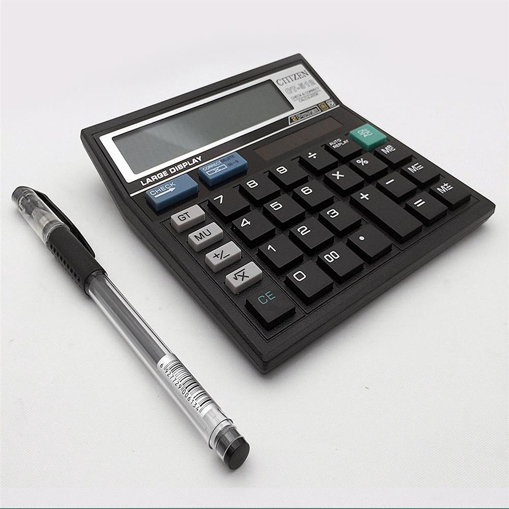 calculator CT-512 Solar Calculator 12 Digital Calculator Black Calculator HOB1687683 1 1